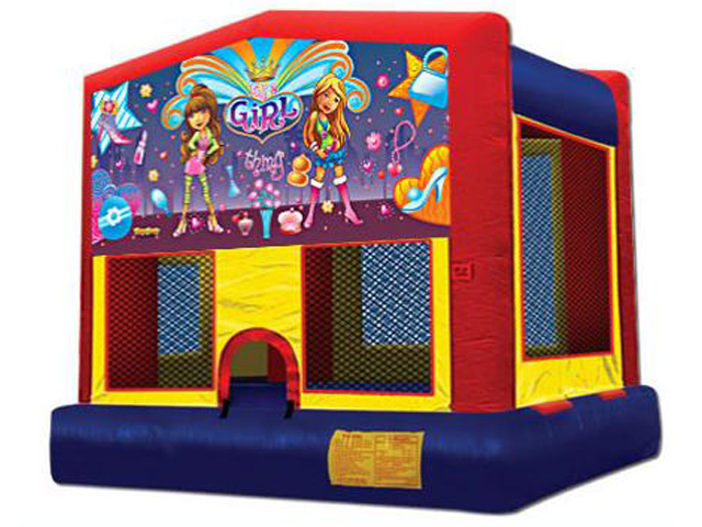 Girl Things Panel Bounce House / Click Here...